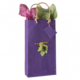 Gift Bag Double with Purple Grapes